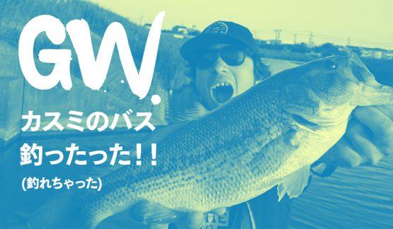 GWカスミのバス釣ったった!!(釣れちゃった)【5/5霞ヶ浦水系釣行】